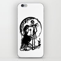 nightmare before christmas iPhone & iPod Skins featuring A Nightmare Before Christmas by iankingart