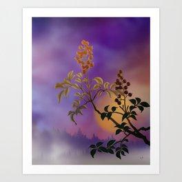 Nandina The Beautiful Art Print