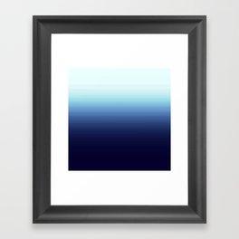 Nautical Blue Ombre Framed Art Print