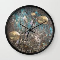 dark souls Wall Clocks featuring Orbitrary Souls by Megan Justine Henrich