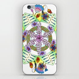 Foxgloves and Thistles Mandala iPhone Skin