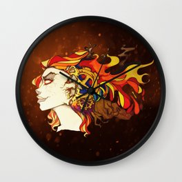 Fire Wall Clock