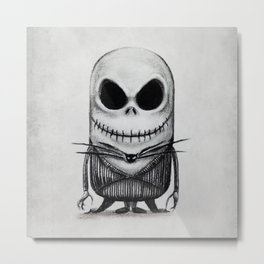 Mini Jack Skellington Metal Print