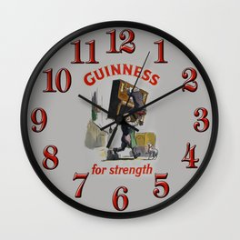 Vintage 1953 Guinness For Strength Advertising Poster Wall Clock
