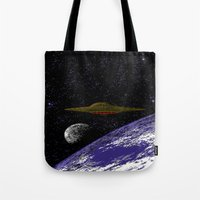 ufo Tote Bags featuring UFO by noirlac
