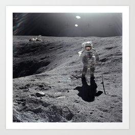Apollo 16 - Plum Crater Art Print