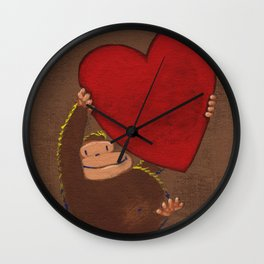 Ape Lifts Valentine Wall Clock