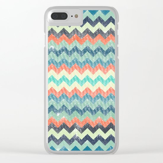 Chevron Pattern Clear iPhone Case