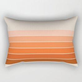Red Rock Spring Stripes Rectangular Pillow