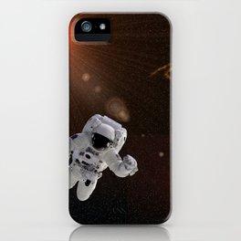 Astronaut Sun Stars iPhone Case