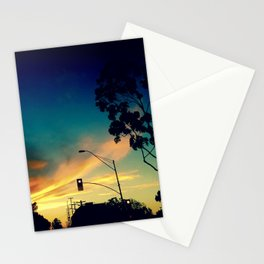 Silhouettes in the Sun Light Stationery Cards