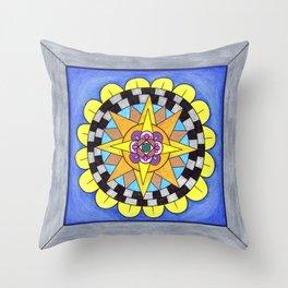 skyflower 9 Throw Pillow