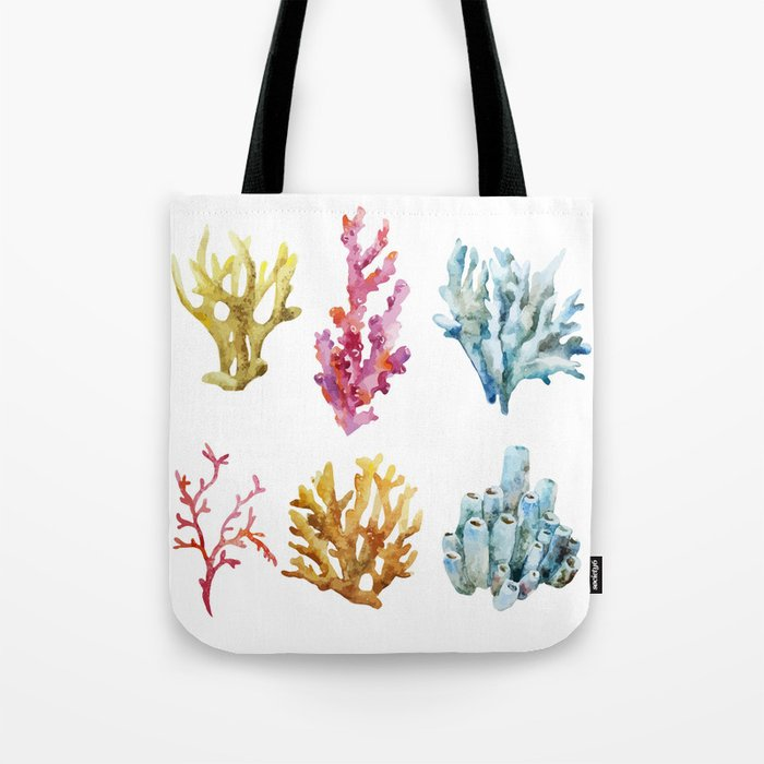 Colorful Chorals Tote Bag