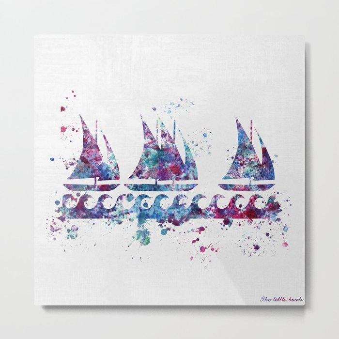 Little boats Metal Print