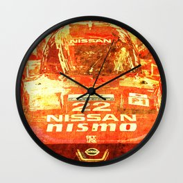 Nissan Le Mans 2015 Nismo number 22 tag heuer race car Wall Clock