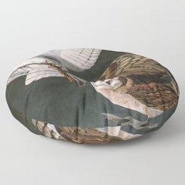 Barn Owls, the Birds of America by John James Audubon Floor Pillow