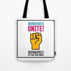 Introverts Unite! Tote Bag