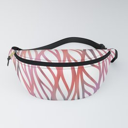 Geometrical coral pink teal watercolor pattern Fanny Pack