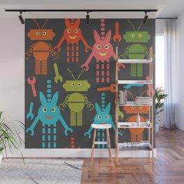 Robots pattern F41 Wall Mural