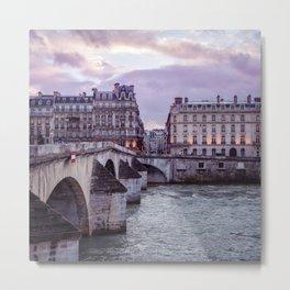 Le Pont Royal, Paris. Metal Print