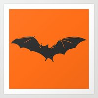 bats Art Prints featuring Bats by Sara Eshak