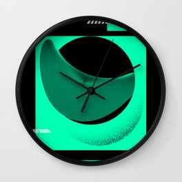 Graphic Poster # 01- Shapes and Waves Wall Clock