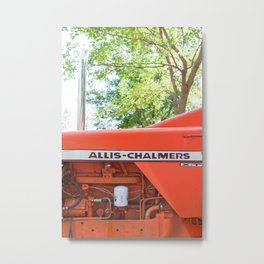 Allis - Chalmers Vintage Tractor Metal Print