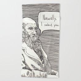 Naturally, I select you Beach Towel
