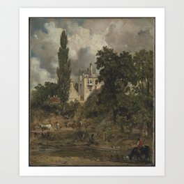John Constable 1776–1837   The Grove, Hampstead Art Print