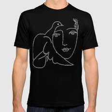 face - dove MEDIUM Black Mens Fitted Tee