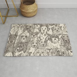 dogs aplenty natural Rug