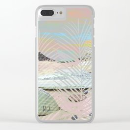BOATS INTO A SURREAL GRAPHIC WORLD Clear iPhone Case