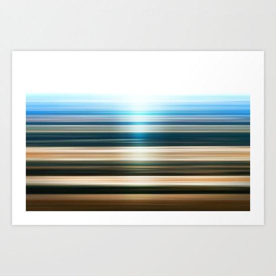 Canyon Stripes Art Print