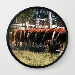 All Lined Up. Wall Clock