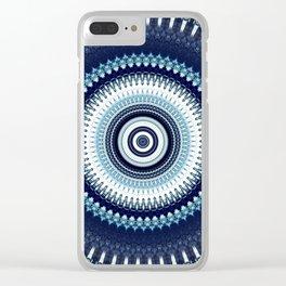 Indigo Boho Mandala Clear iPhone Case