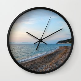 Greek Beach Wall Clock