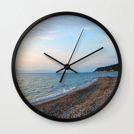 Greek Beach Wall Clock