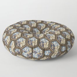 Floral Repetition Floor Pillow