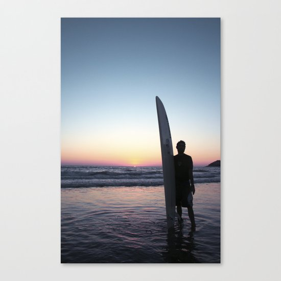 Summer Surfer Canvas Print