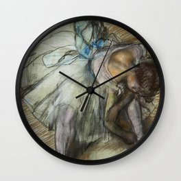 "Edgar Degas ""Dancer adjusting her shoe"" Wall Clock"