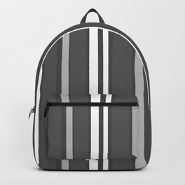 Grey Scale Lines Backpack