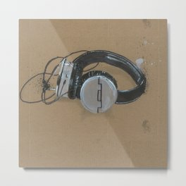 Sol Republic Headphones - These are the things I use to define myself Metal Print