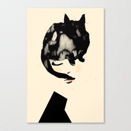 Cat Girl Canvas Print