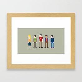 The Big Bang Theory 8-Bit Framed Art Print