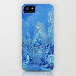 Wedgewood Blue English Garden iPhone Case