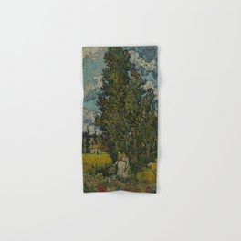 Cypresses and Two Women Hand & Bath Towel