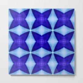 Blue Four Pointed Star-shine Metal Print