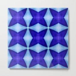 Blue Four Pointed Star-shine Metal Print