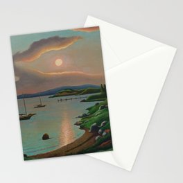 Sunset on Martha's Vineyard by Thomas Hart Benton Stationery Cards