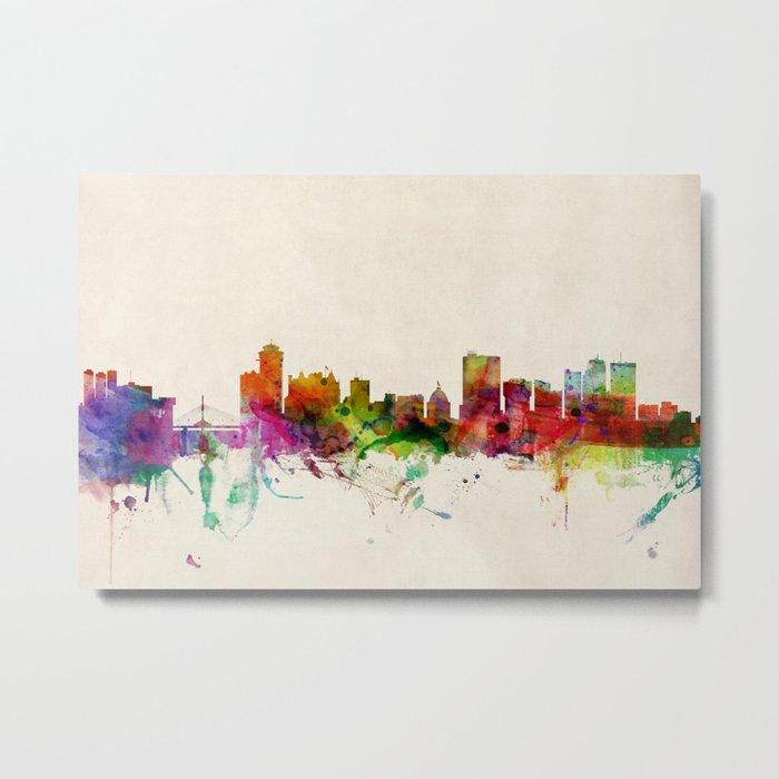 Winnipeg Canada Skyline Metal Print